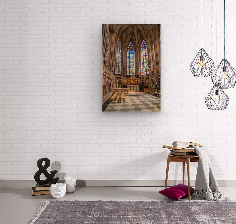 Litchfield Cathedral  Wood print