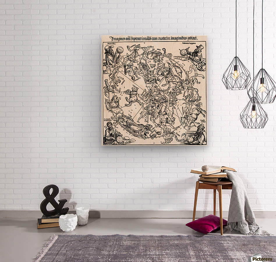 Star map  Wood print