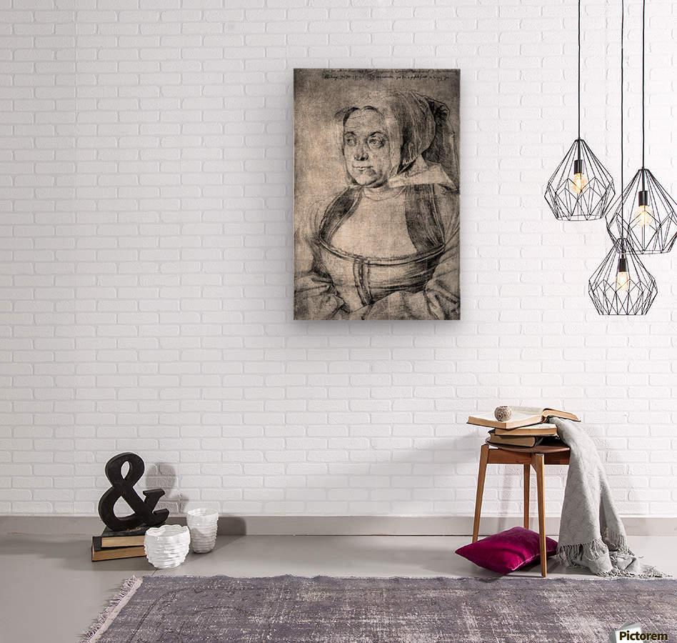 Agnes Durer in Dutch Tracht  Wood print