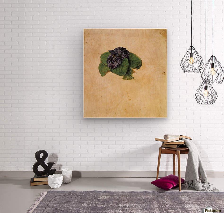 Violet Bouquet  Wood print