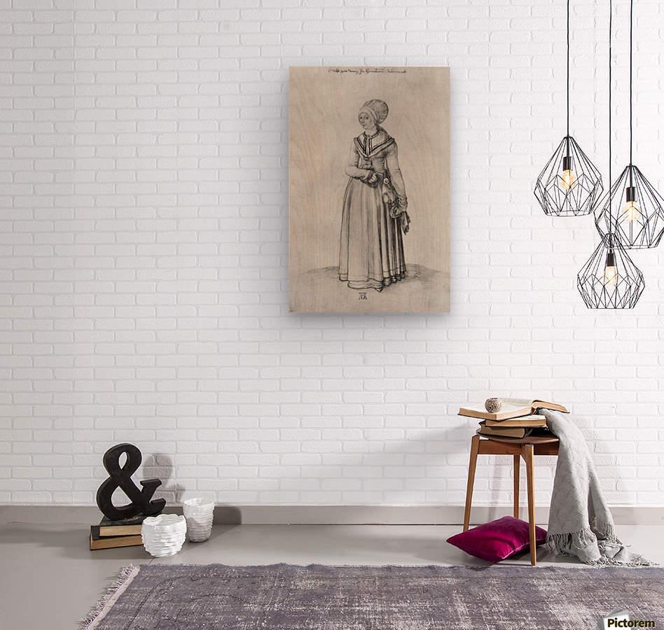 Nuremberg woman in house dress  Wood print