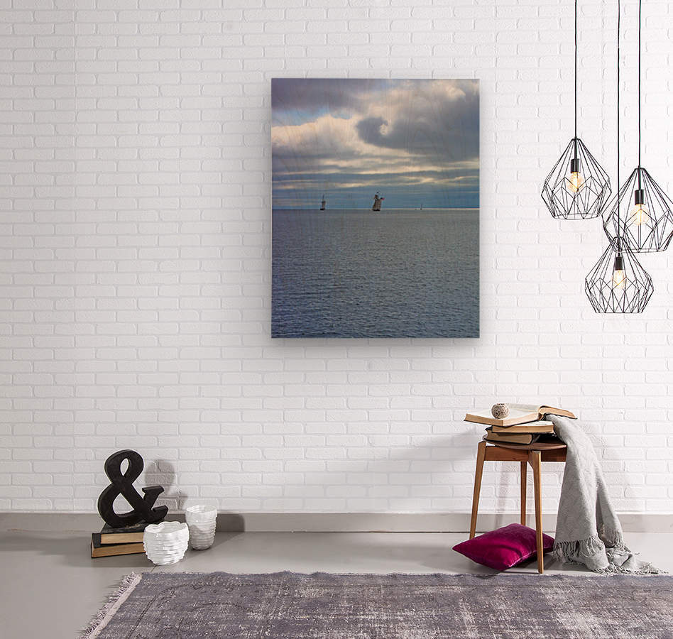 Tall Ships Vista  Wood print