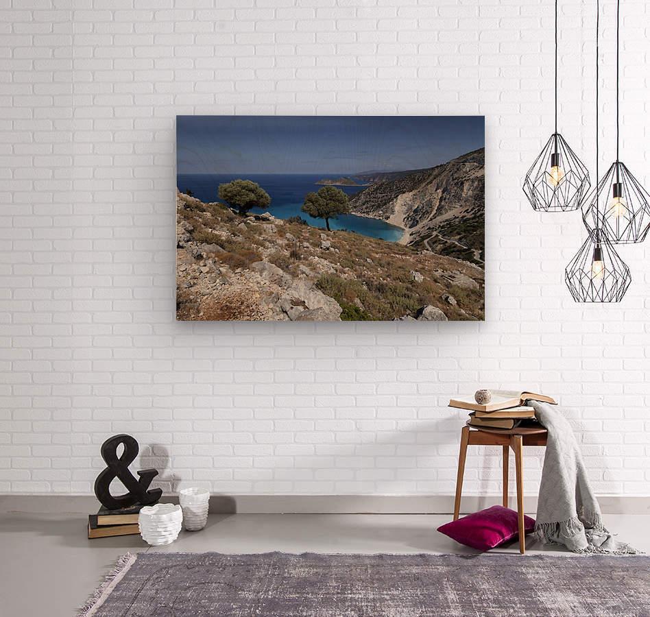 The Greek island of Kefalonia  Wood print