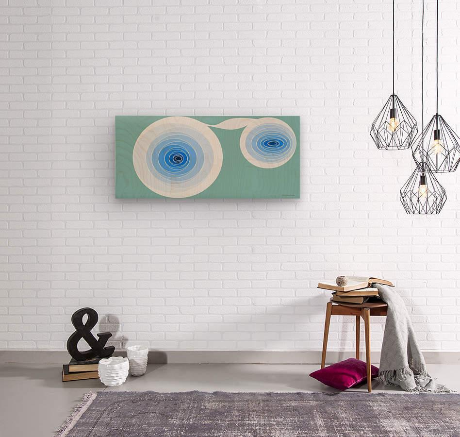 Hypnotize 2  Wood print