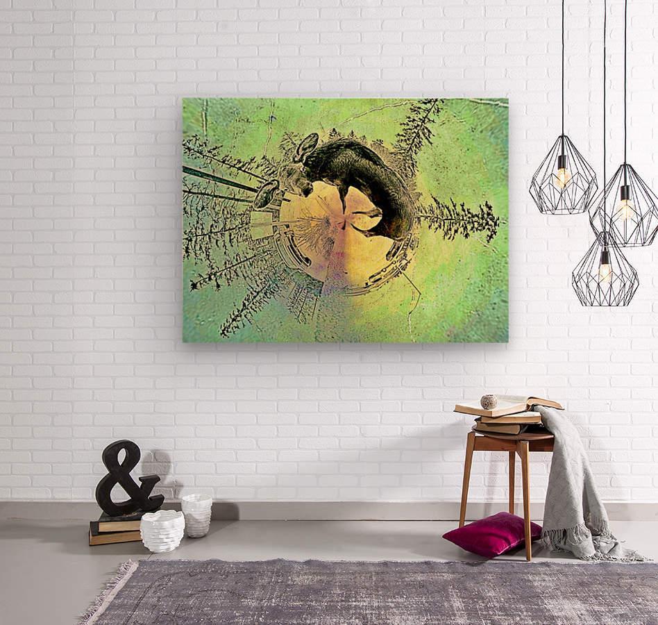 abstract baby moose   Wood print