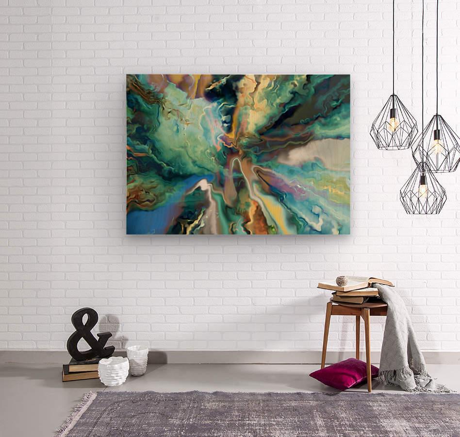 Color Galaxy 20  Wood print