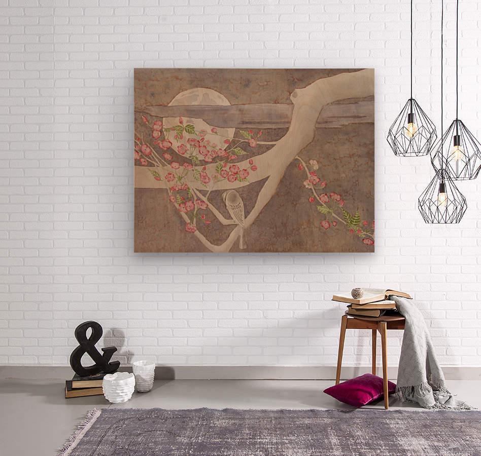 Kiss of the Moon  Wood print