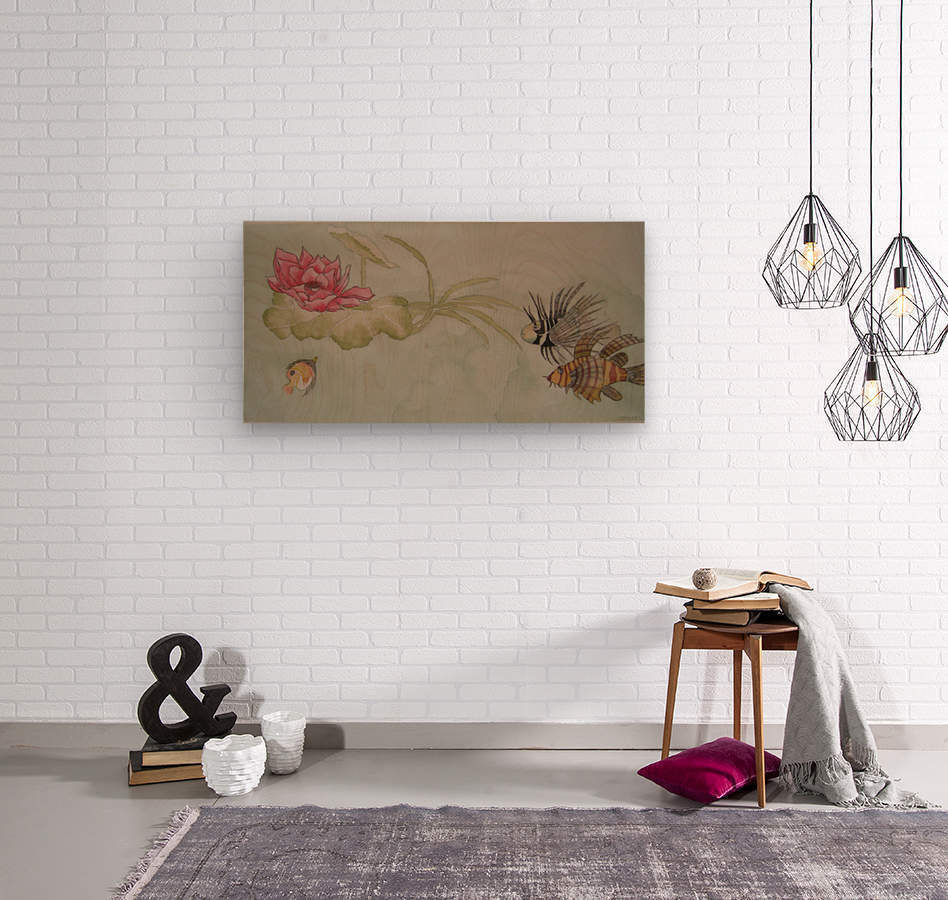Lotus Song  Wood print