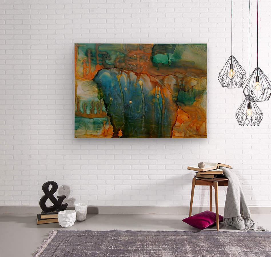 Elephant and Warrior  Wood print