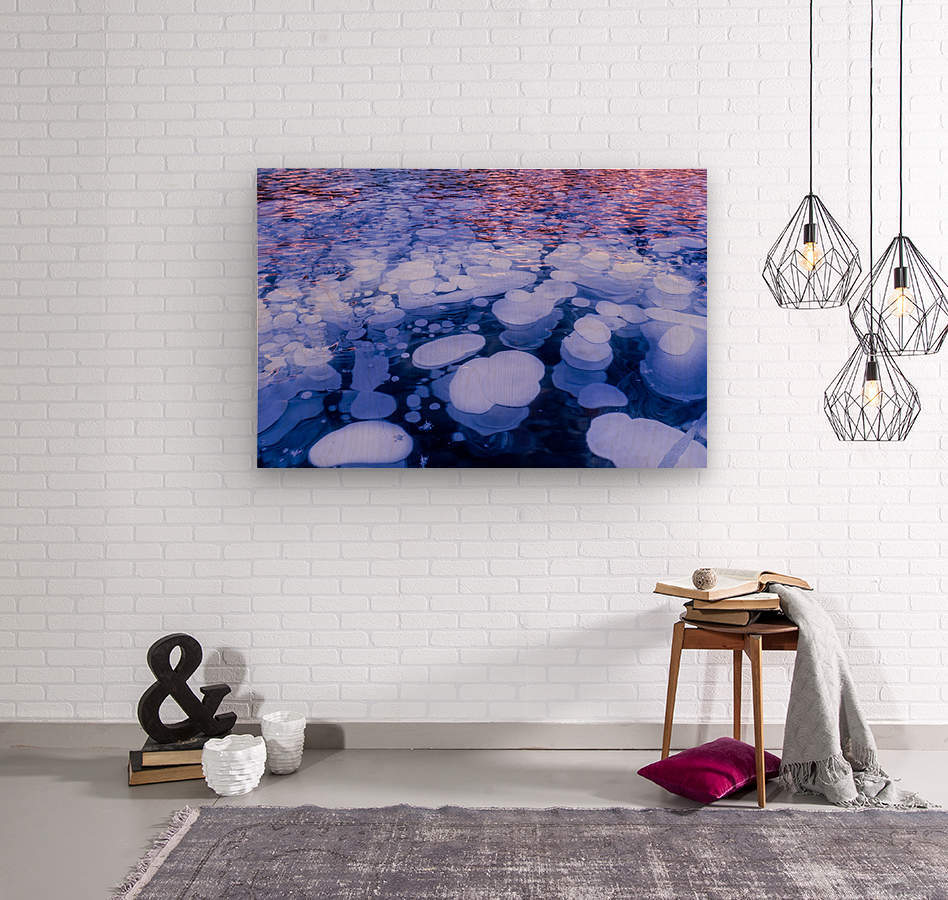 Abraham Lake Bubbles  Wood print