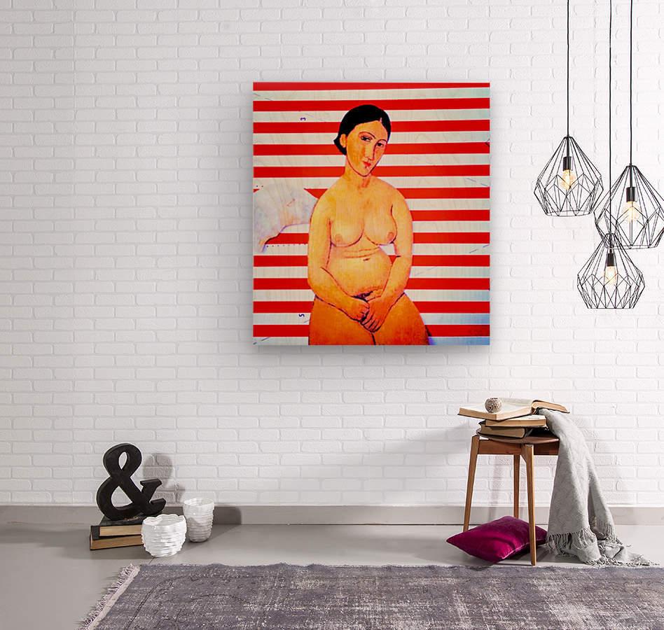 erotic angel  Wood print