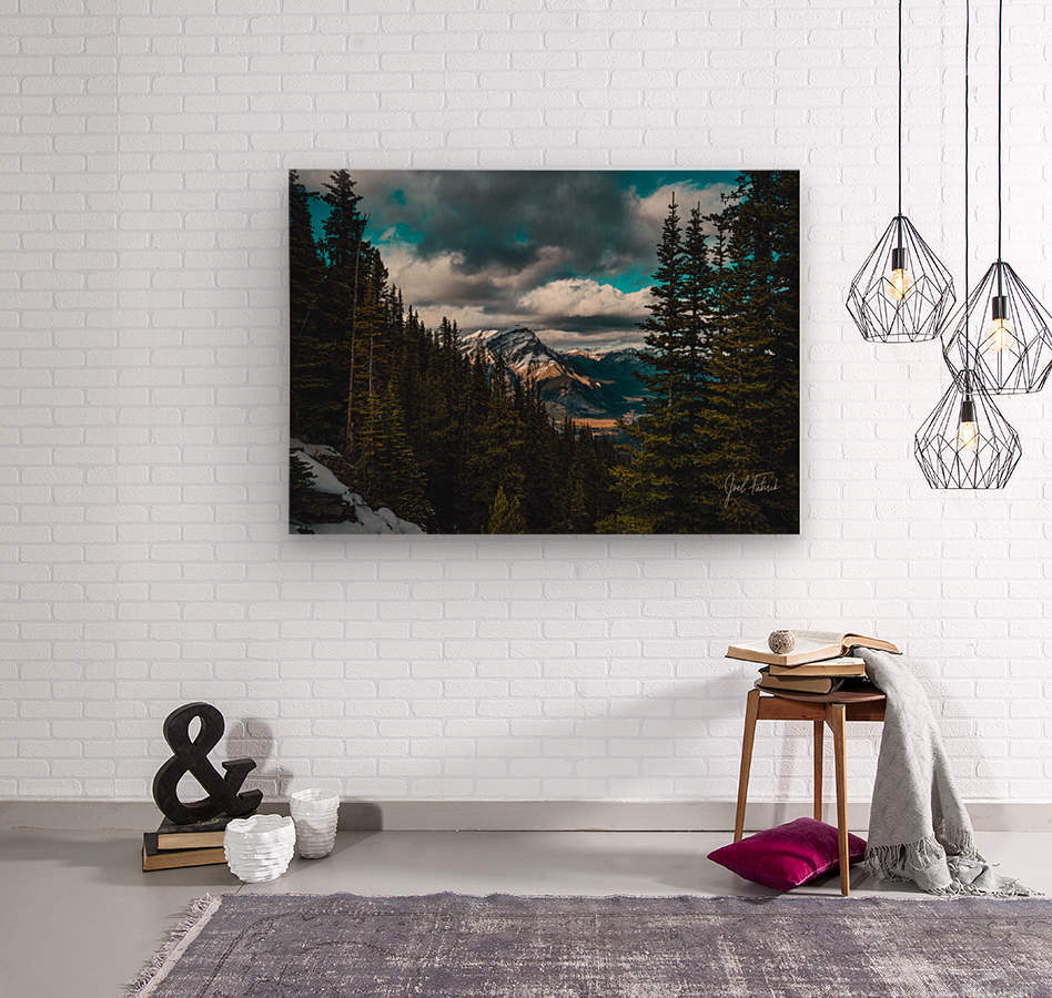 Cascade Mountain Through The Trees  Wood print