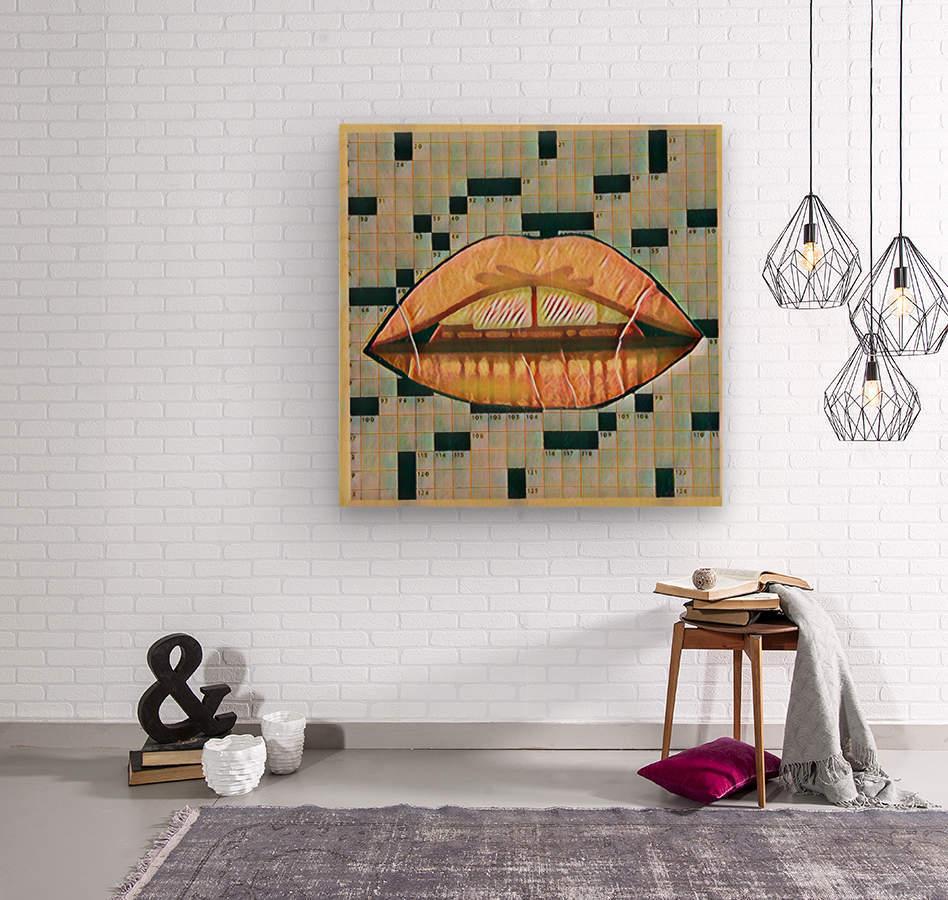 erotic lady  Wood print