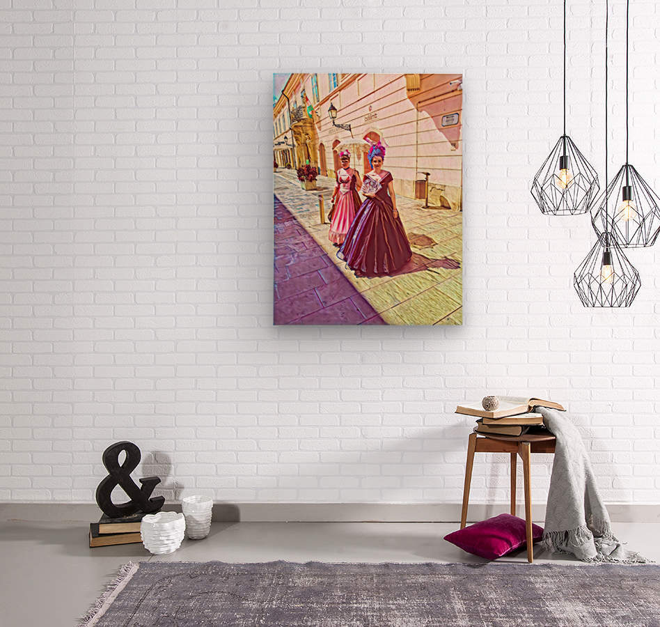 Purple Baroque  Wood print