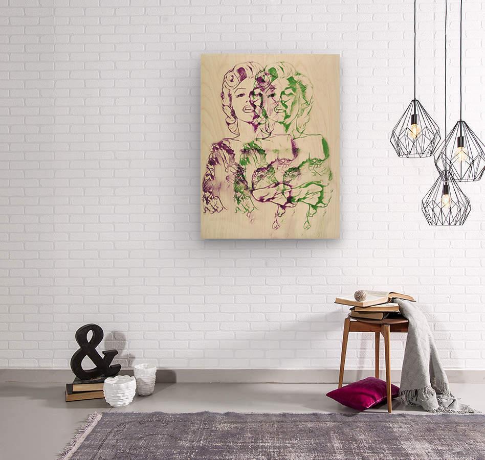 Marilyn Monroe double soul  Wood print