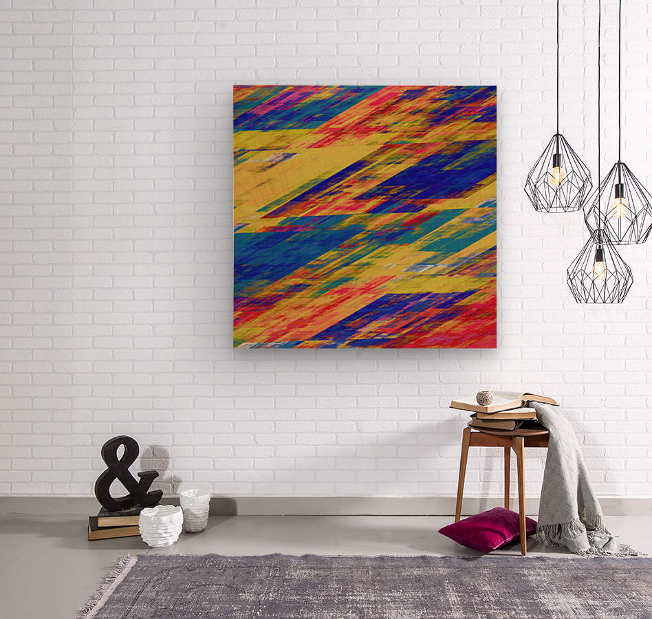 Abstract Composition 232  Wood print