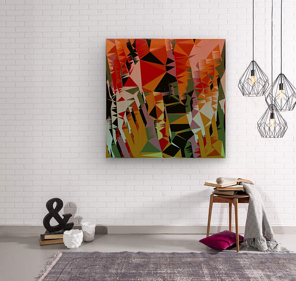 Abstract Composition 636  Wood print