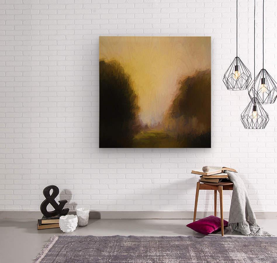 Impressionist landscape  Wood print