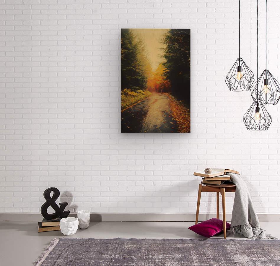 Autumnal Landscape 4  Wood print