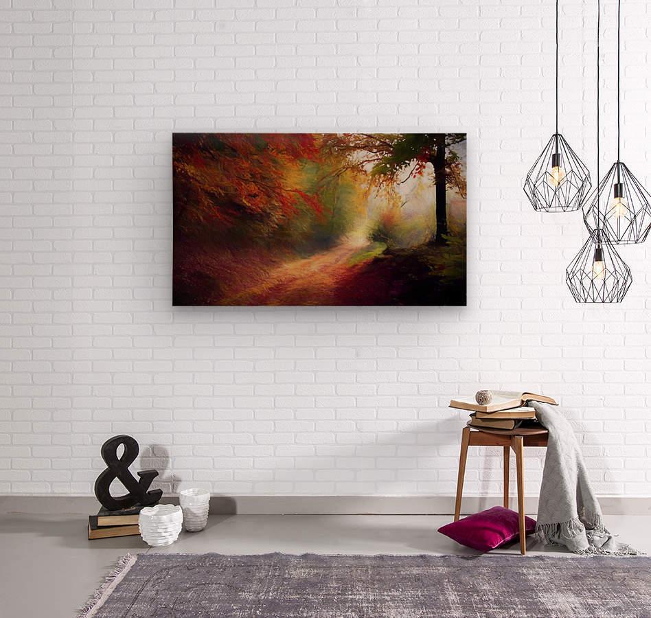 Autumnal Landscape 5  Wood print