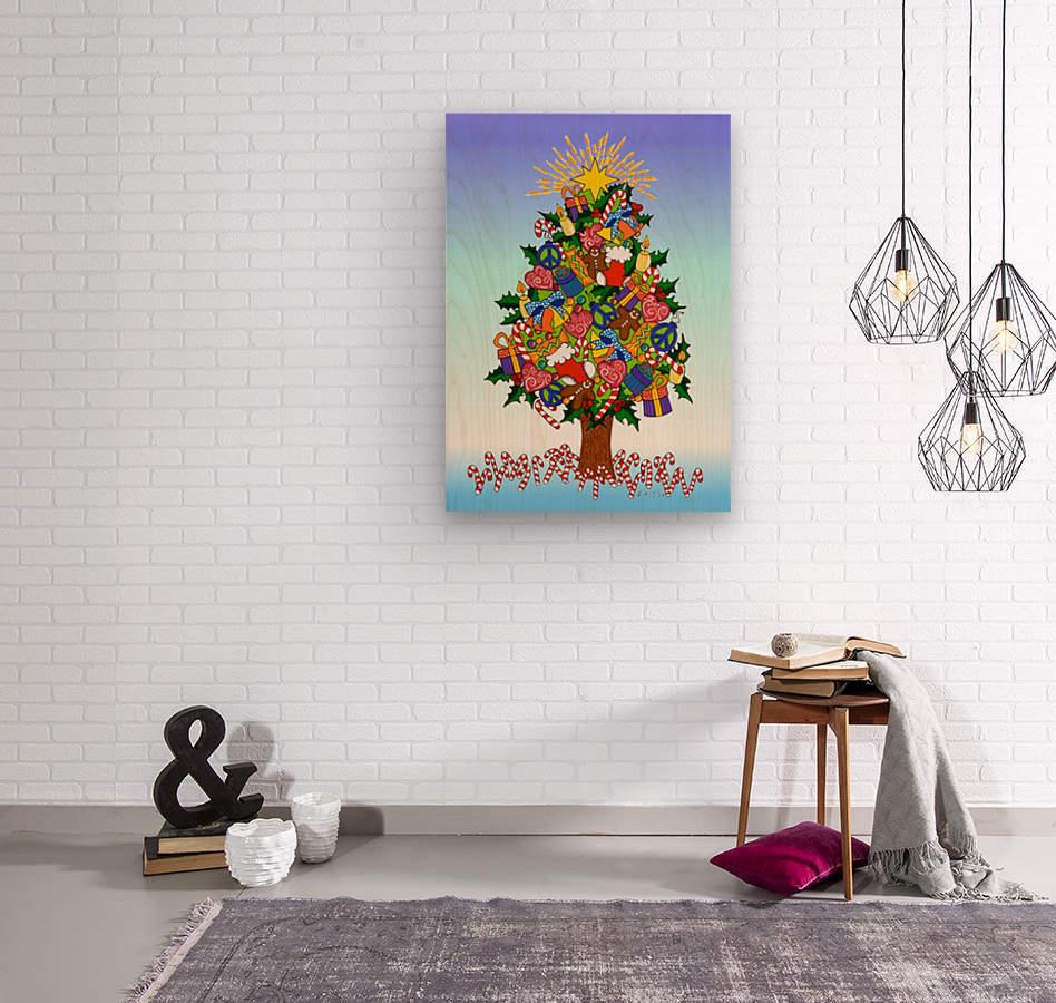 Joy of Christmas  Wood print