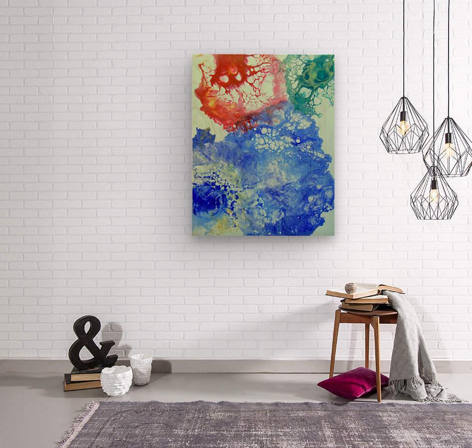 Game color  Wood print