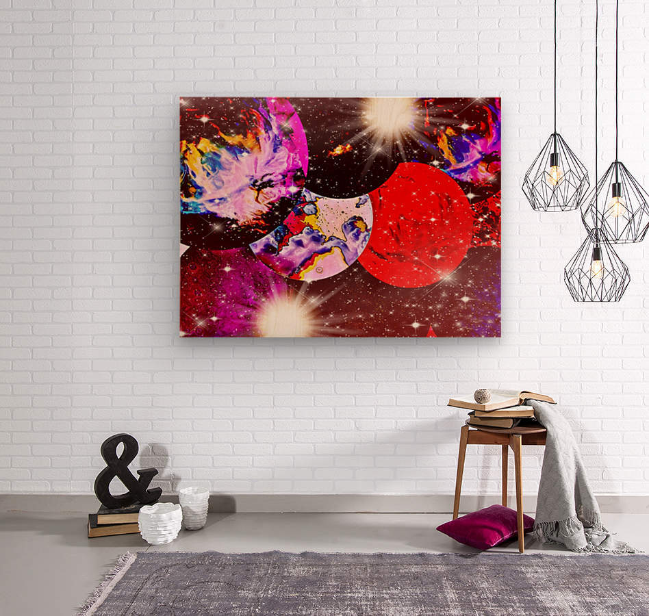 The Imaginary Planets Series 5  Wood print