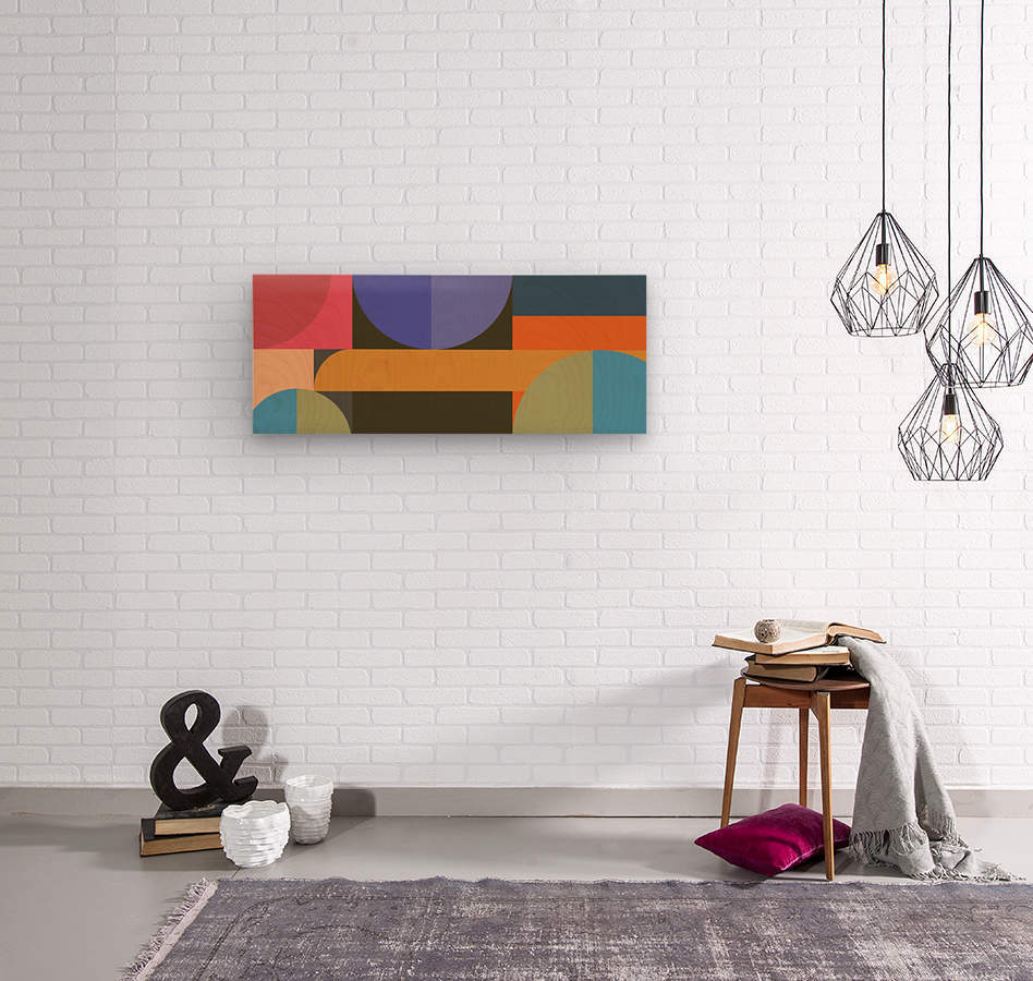 Abstract Composition 783  Wood print