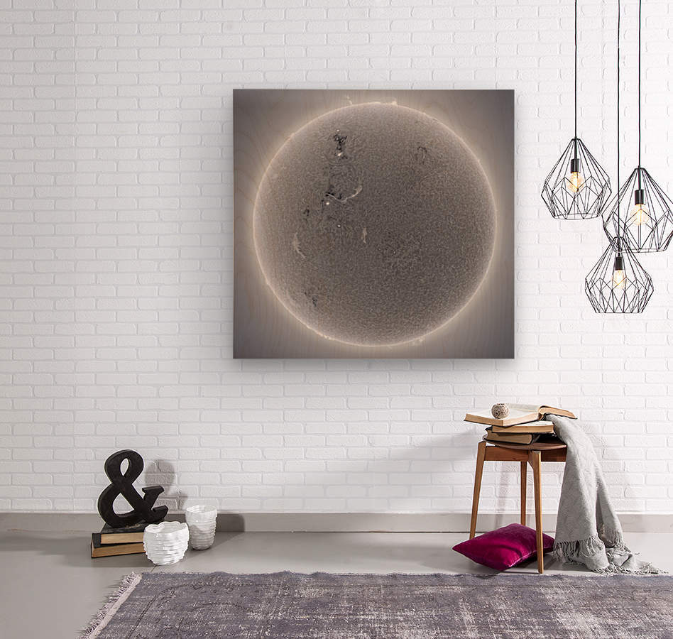 hd sun  Wood print