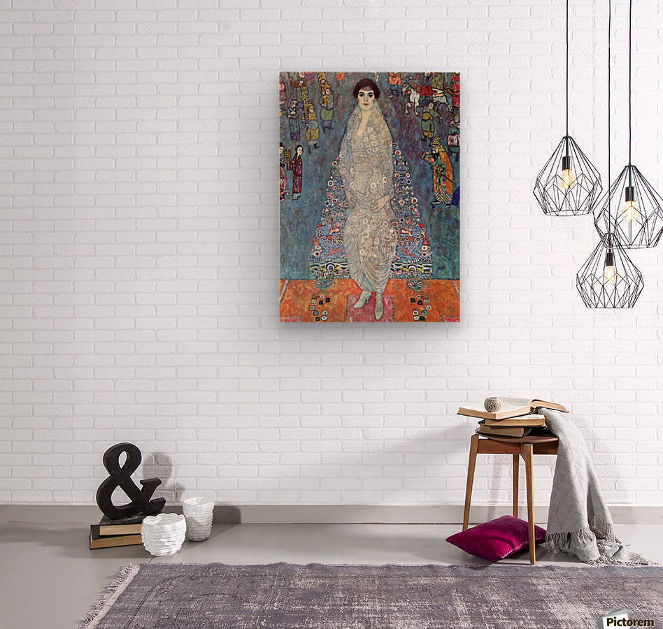 Baroness Elizabeth by Klimt  Wood print