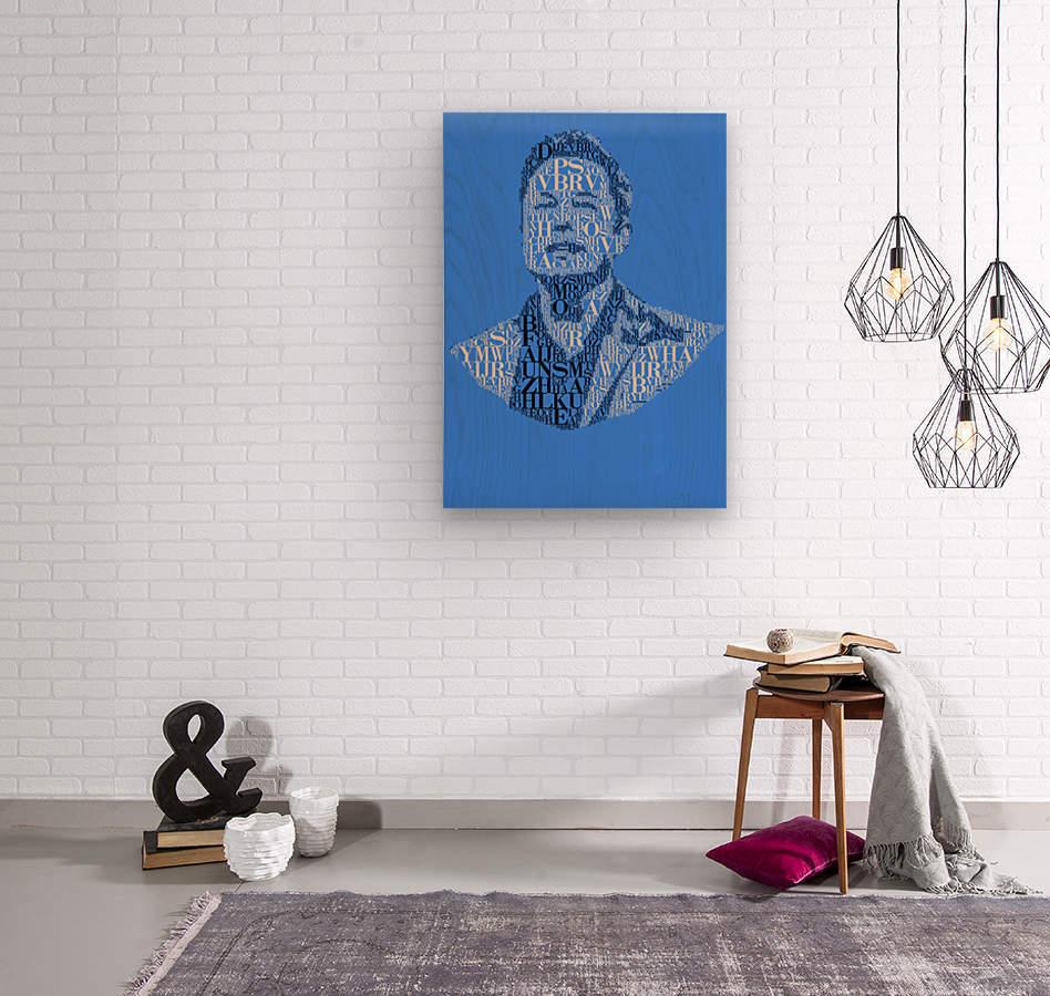 Elon Musk  Wood print