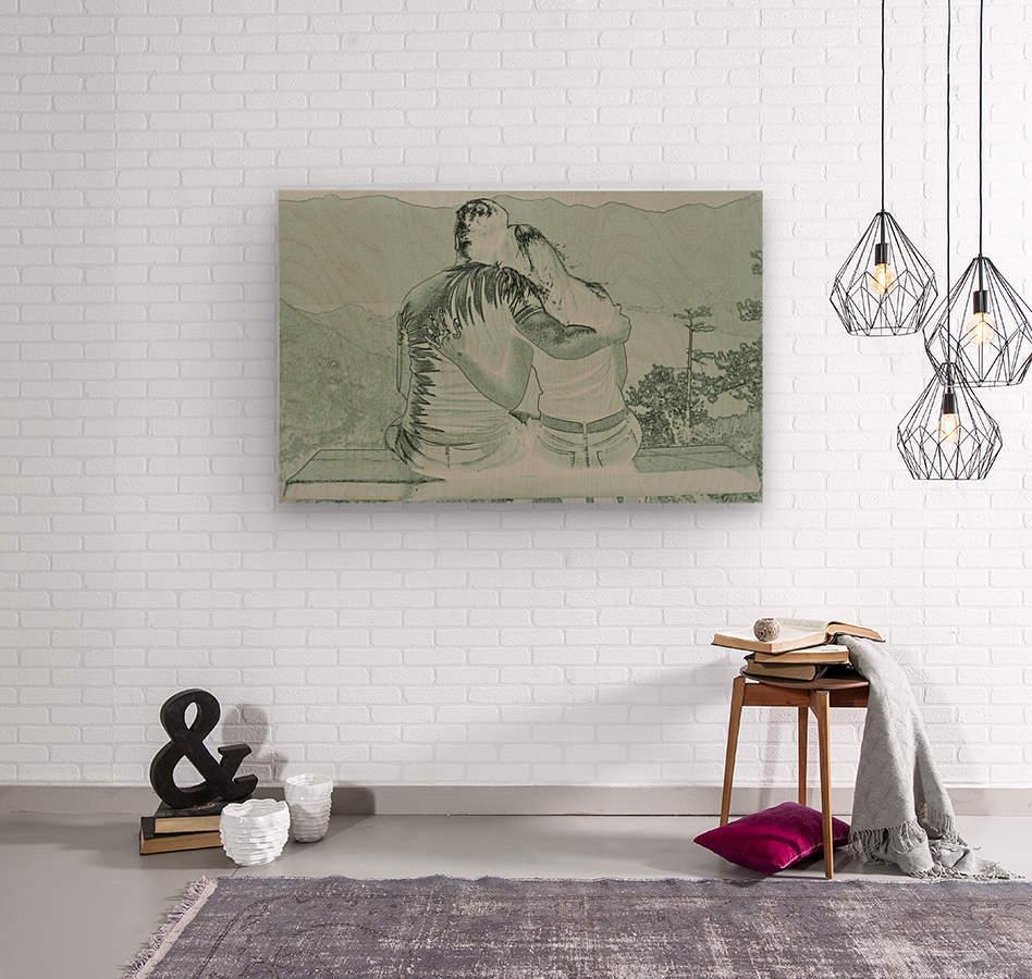 Couple  Wood print