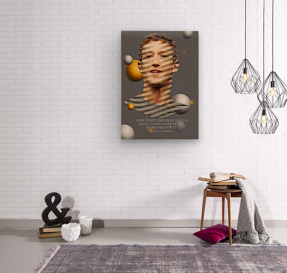Mark Zuckerberg2  Wood print
