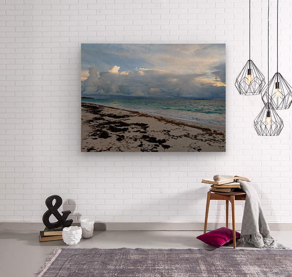 Eleuthera Stormy Horizon  Wood print