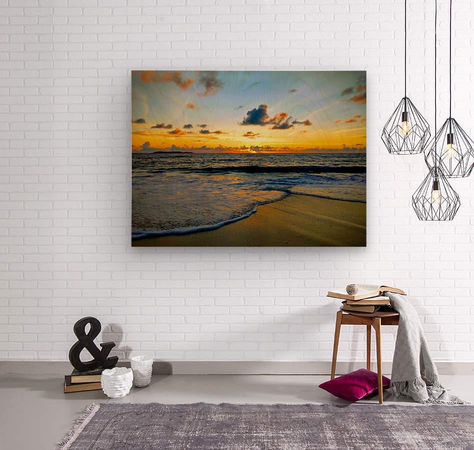 Eleuthera suds and sand  Wood print