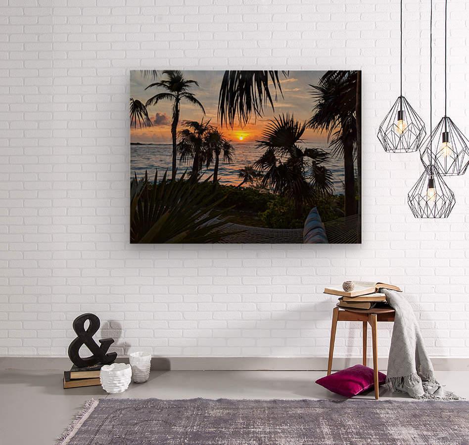 Eleuthera Sunrise on the Hammock  Wood print