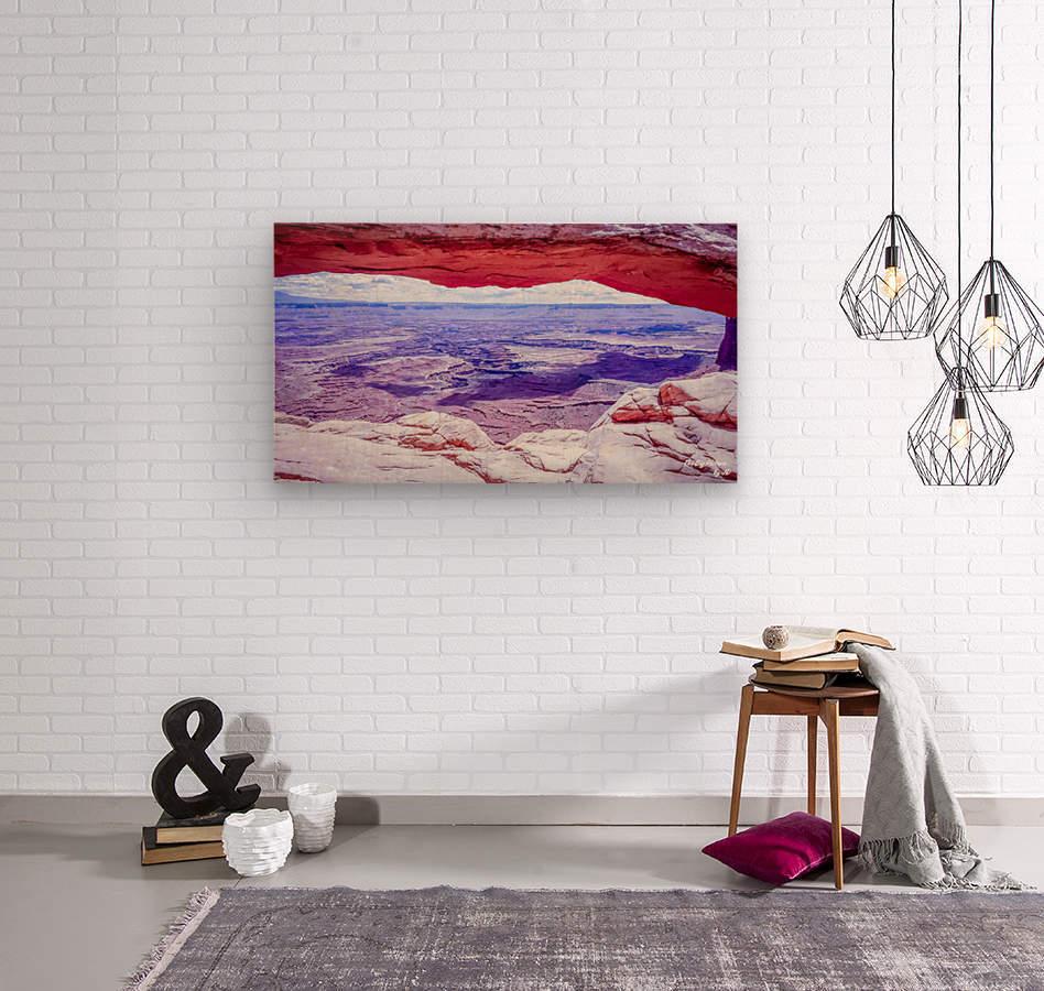 Mesa Arch Canyonlands  Wood print
