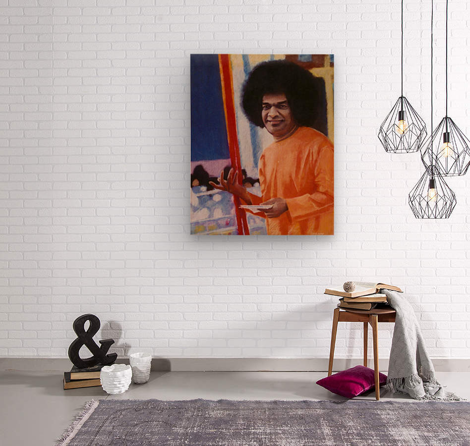 Sathya Sai Baba  Wood print