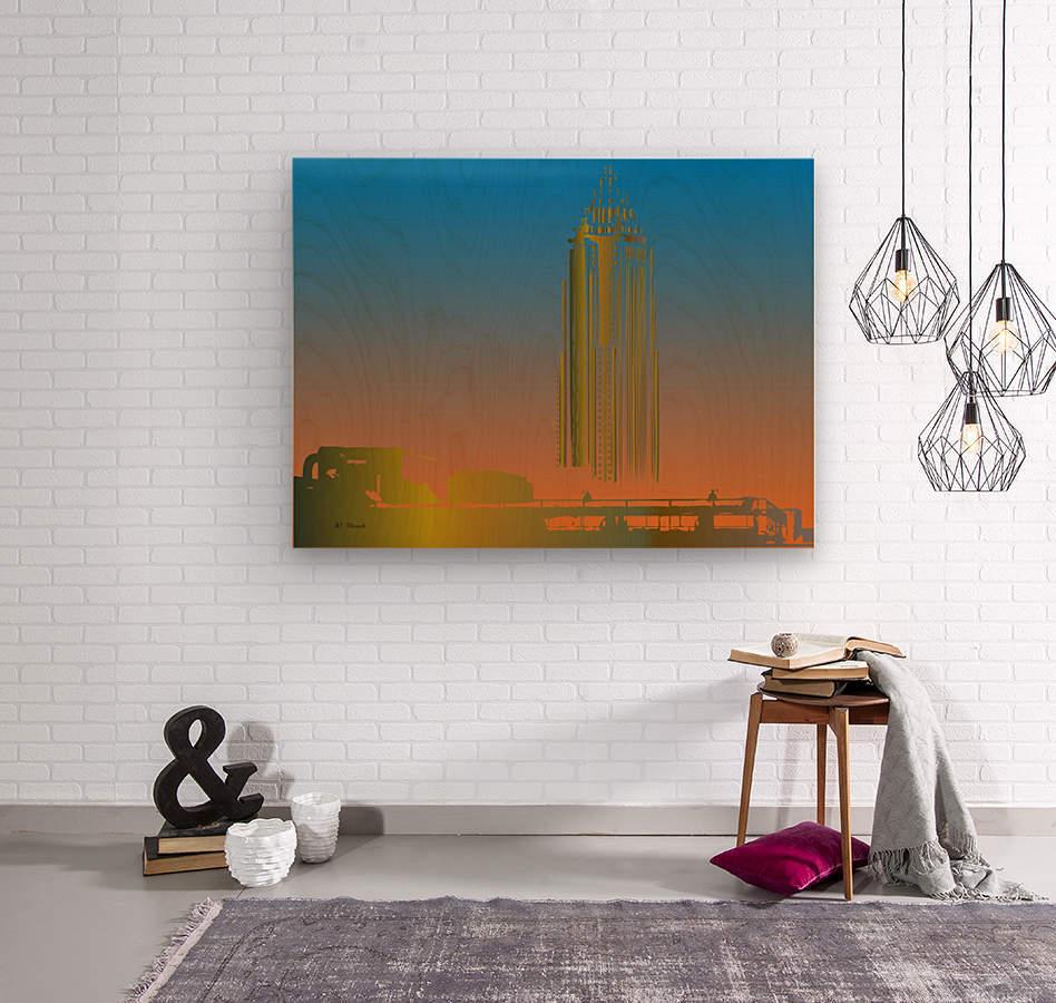 Abstract Skyscraper 1  Wood print