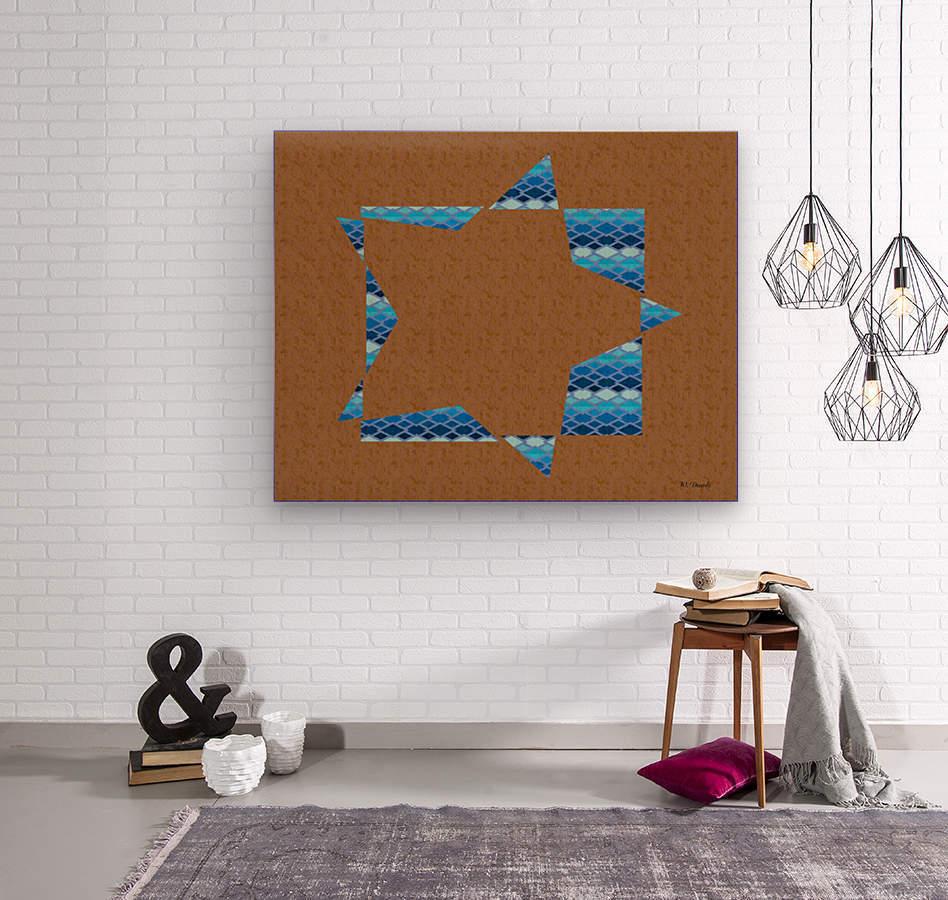 Compound Shapes Diamond Overlap Color 01  Wood print