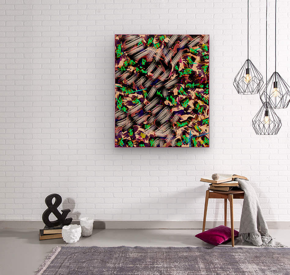 Icing on the Kaleidoscopic  Wood print