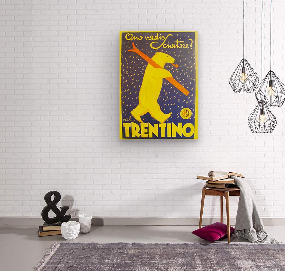 Vintage Travel - Trentino  Wood print