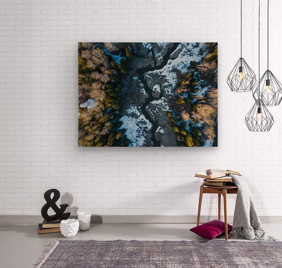 Ontario River  Wood print