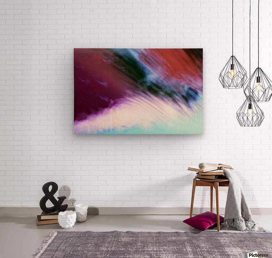 Water fall abstraction  Wood print