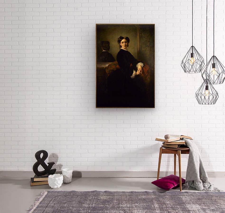 Portrait de Madame Charles Chaplin  Wood print