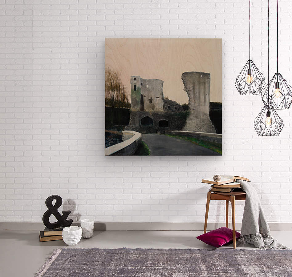 Mahee Castle  Wood print