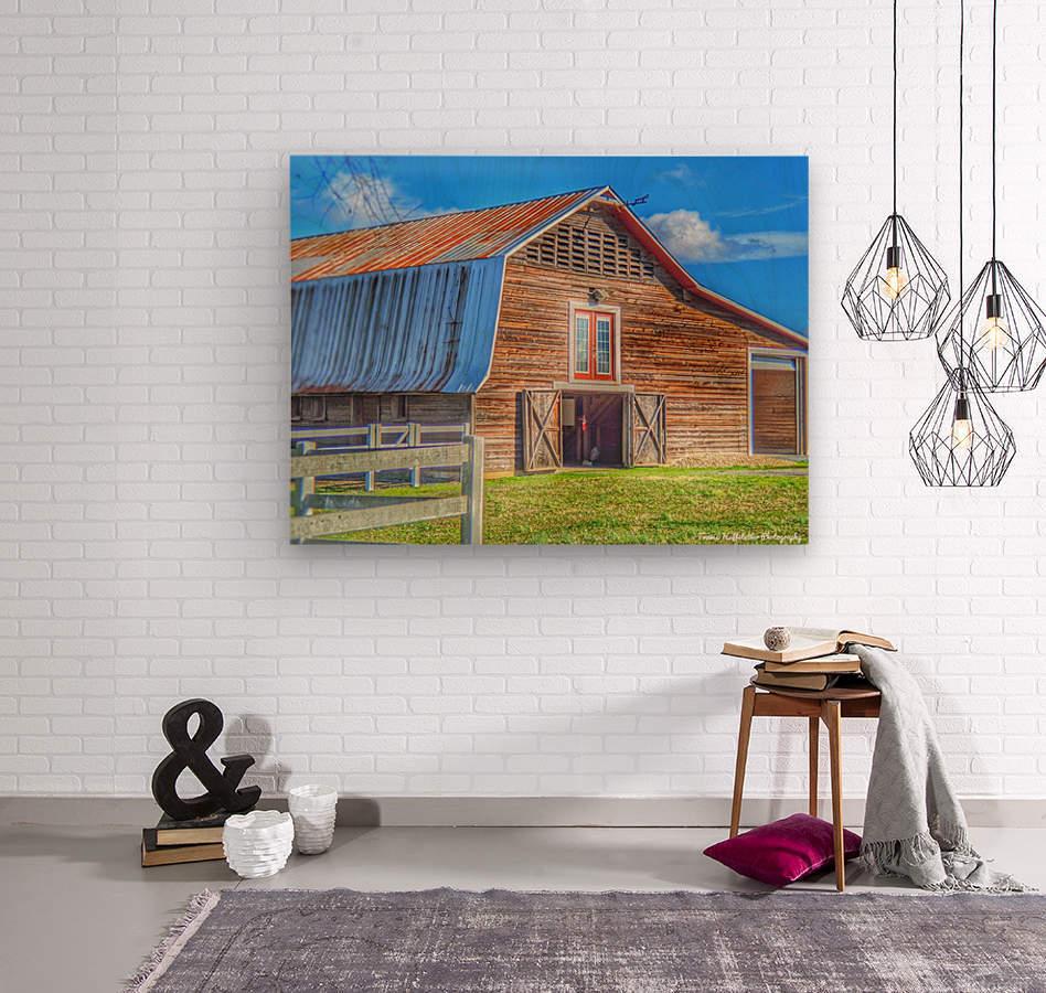 Barn Life.....  Wood print