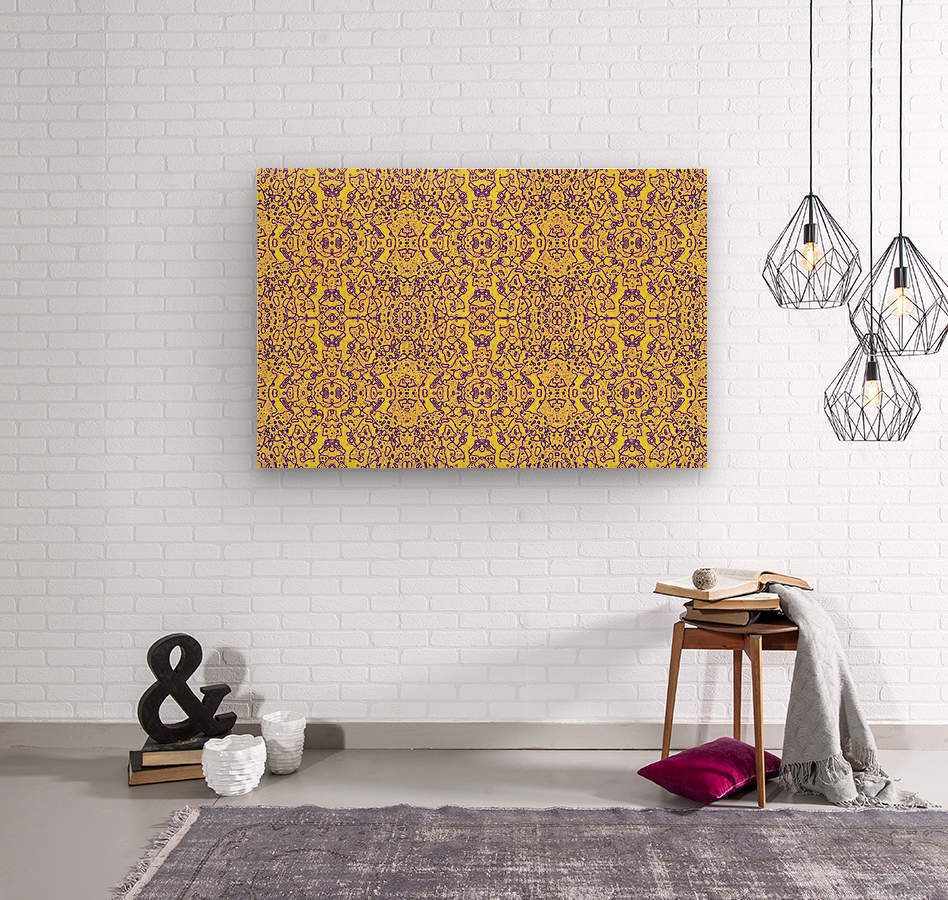 GOLDEN BEAR   Wood print