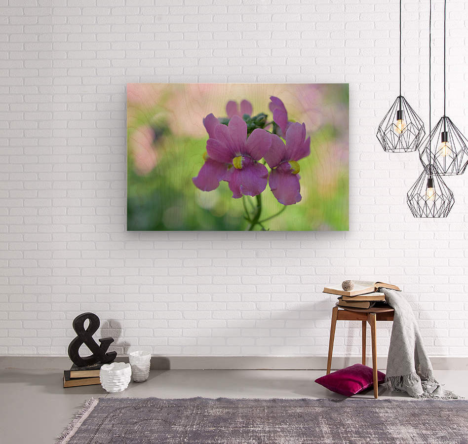 Purple Flowers Photograph  Wood print