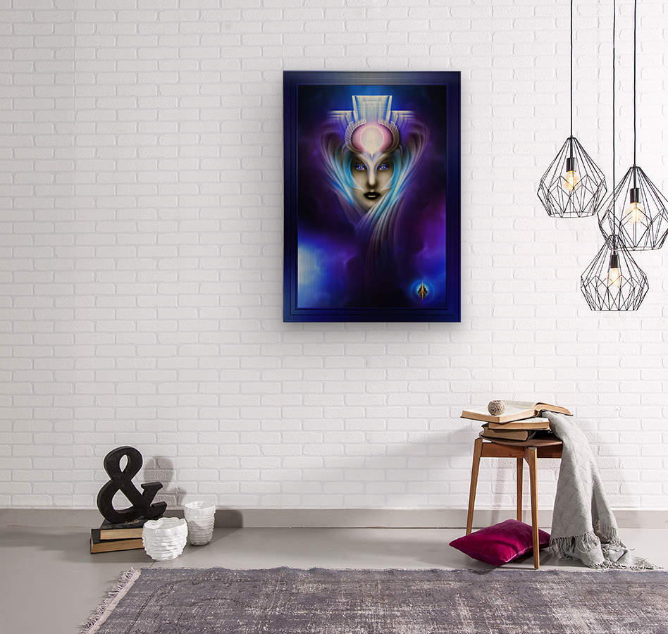 What Dreams Are Made Of Ethereal Clouds Portrait T2  Wood print